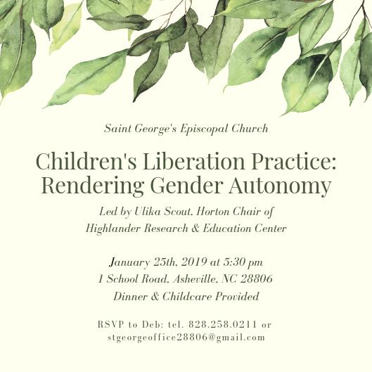 epiphany series 2 invitation, gender autonomy